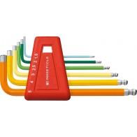 Набор штифтовых ключей HEX PB 212.H-5 RB